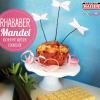 Kaiser Shake&Bake Rhabarber-Mandelkuchen mit weißer Schokolade