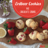 Erdbeer Cookies mit Chocolate Chunks