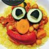Gemüsepfanne mit Thunfisch
