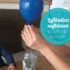Luftballon aufblasen mit Essig und Backpulver