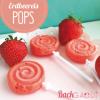 Erdbeereis-Pops
