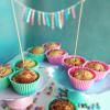 Erdbeer-Rhababer-Marzipan Muffins