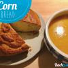 Cornbread mit Kürbis Suppe
