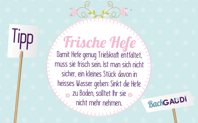 Backtipp Frische Hefe