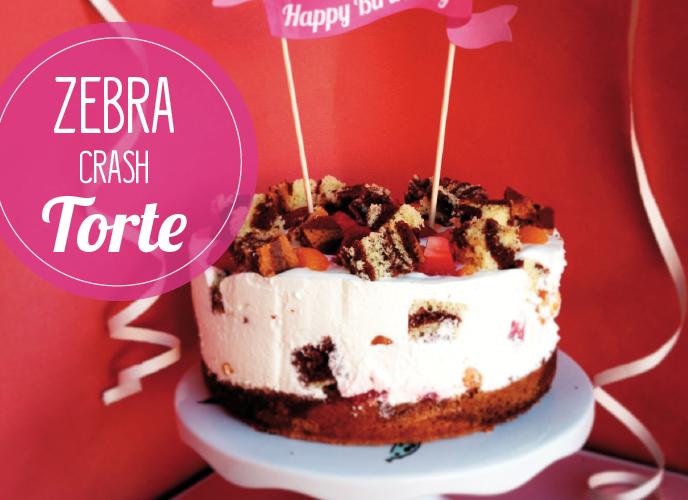 Zebra-Crash-Torte