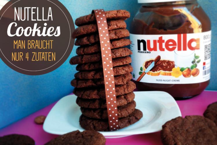 Nutella Cookies (man braucht nur 4 Zutaten)