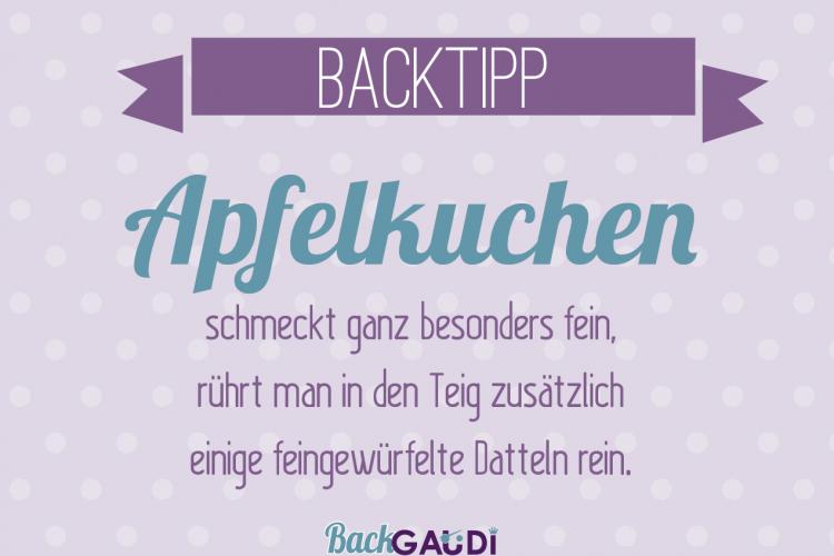 Backtipp Apfelkuchen