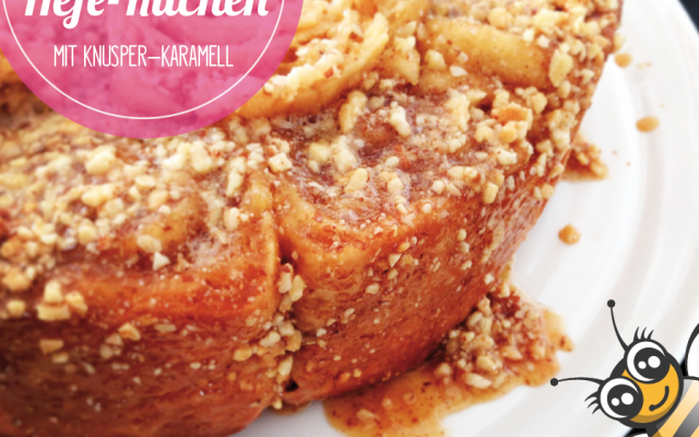 Honig Hefekuchen mit Knusper-Karamell