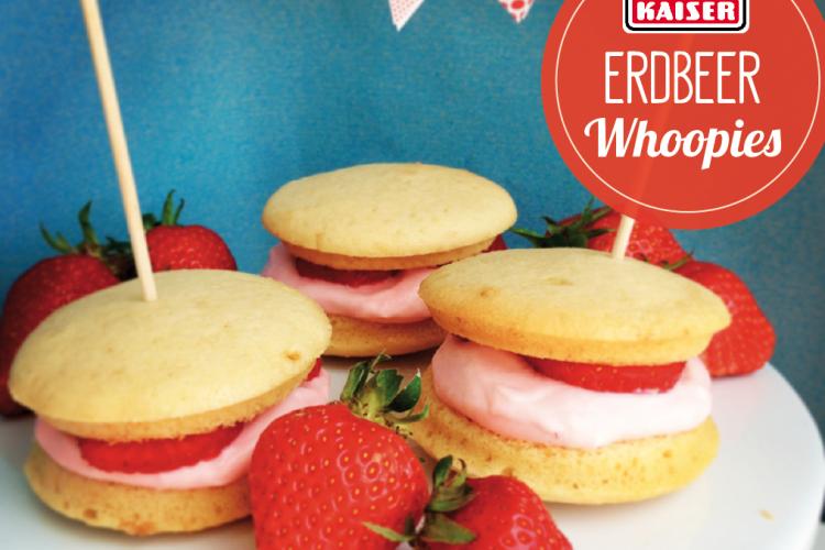 Erdbeer Whoopies mit Vanillecreme