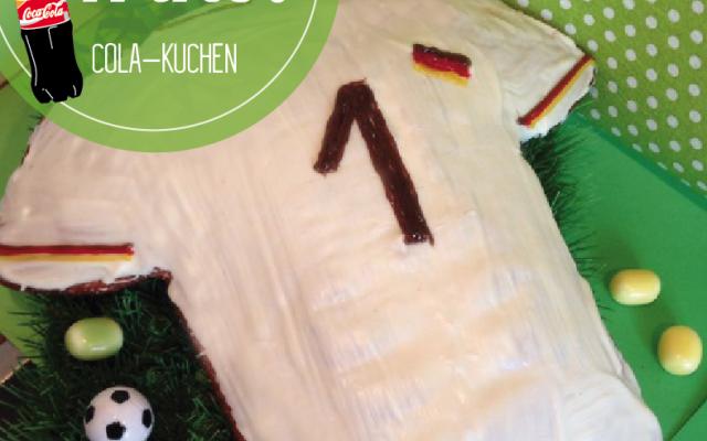 WM Fußball Trikot Deutscland – Cola Kuchen