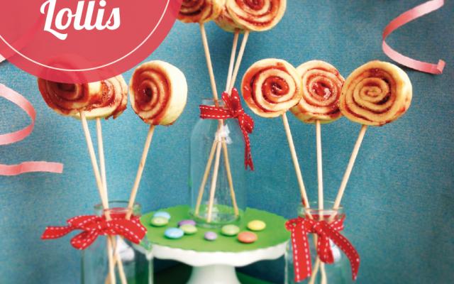 Erdbeer Lollis