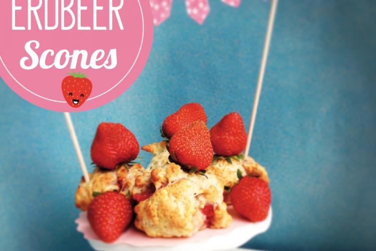 Erdbeer-Vanille Scones