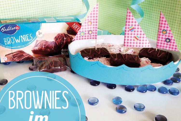 Brownies im Joghurette-Meer