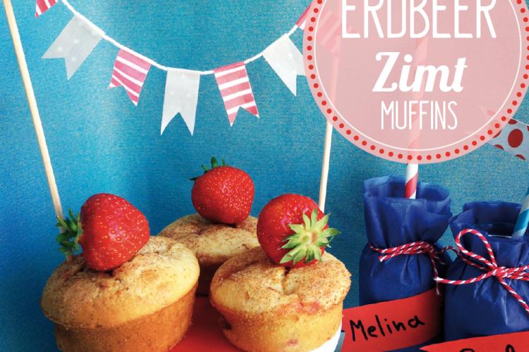 Erdbeer-Zimt-Muffins