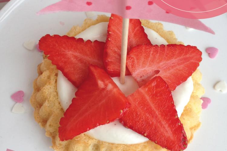 Vanille-Erdbeer Bisquit