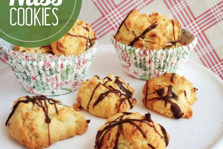 Bananen-Haferflocken-Nuss-Cookies