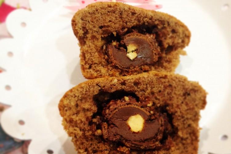 Rocher Muffins – die Kugel als Überraschung