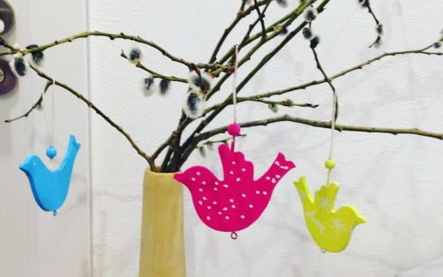 DIY Holzvögel bemalen