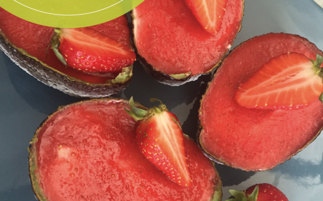 Avocado-Erdbeereis