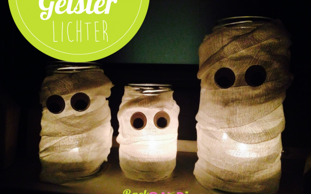 DIY Gespenster Windlichter