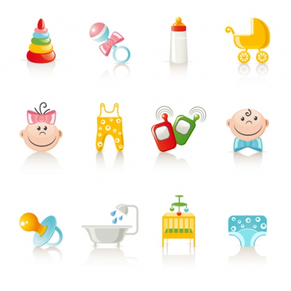 vivid_baby_icon_design_vector_522570