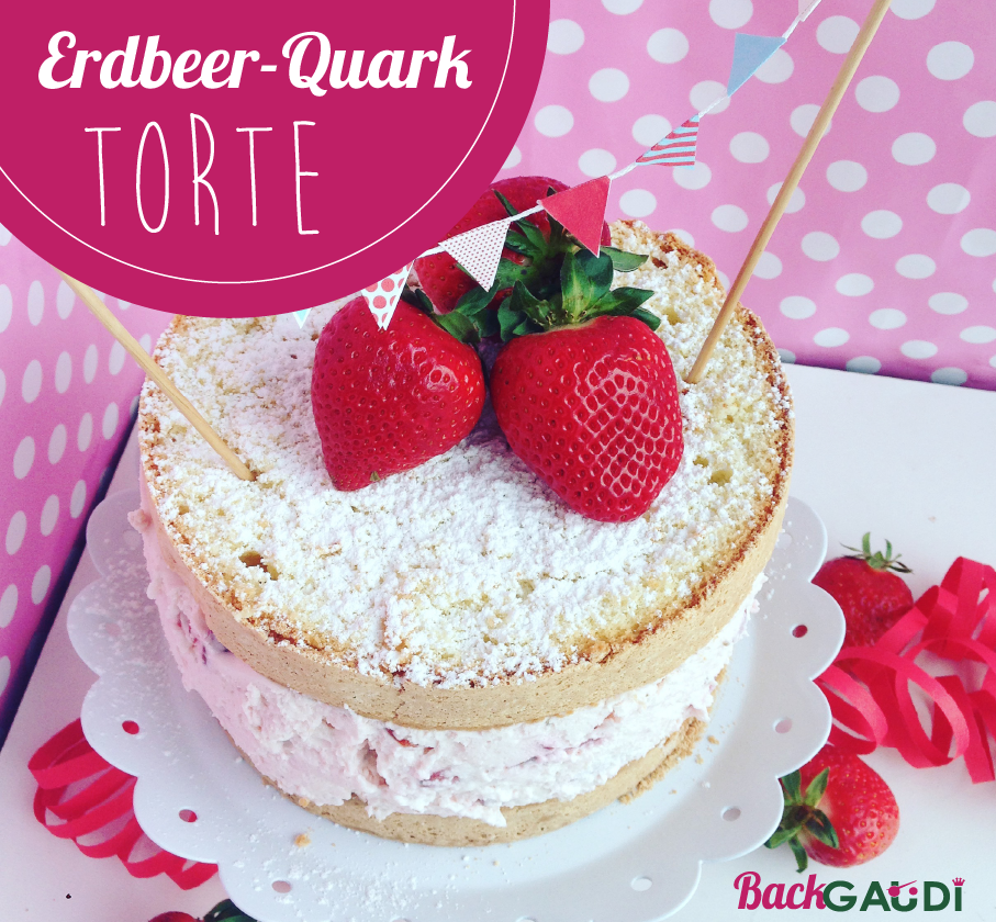 Erdbeer Quark Torte Backgaudi